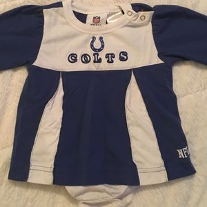 Colts cheerleader dress. Size 6-9 months